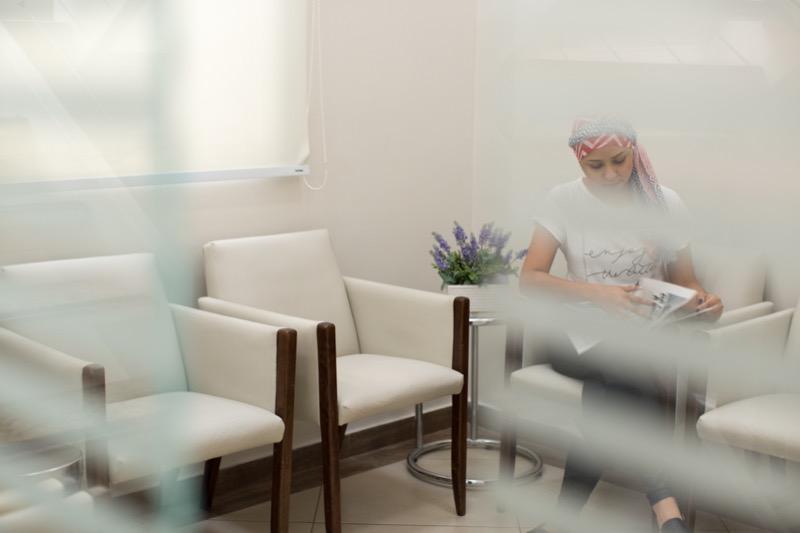 paciente esperando na recepção